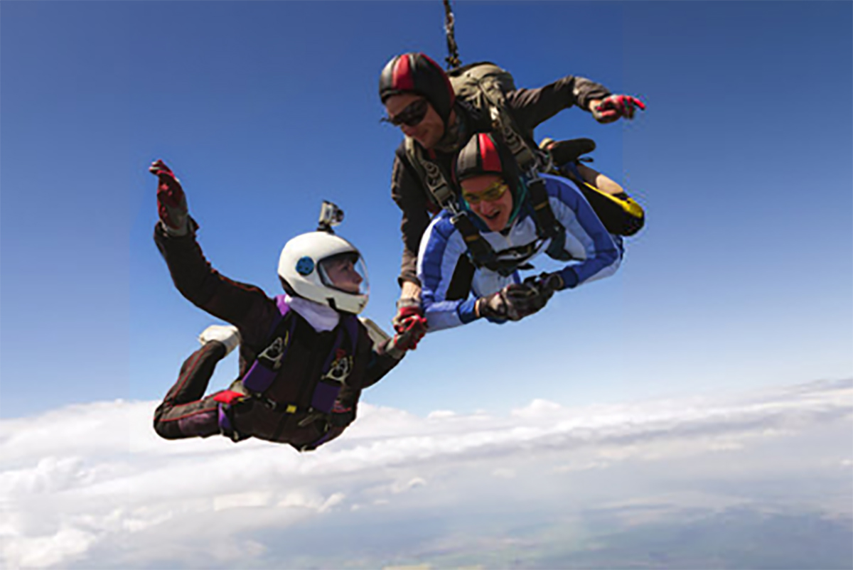 skydiver from magazine